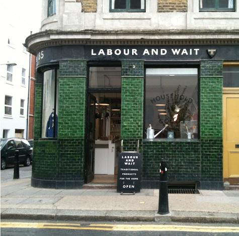 labour wait exterior shop