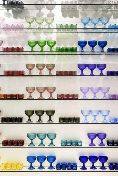 marimekko store crate barrel glasses