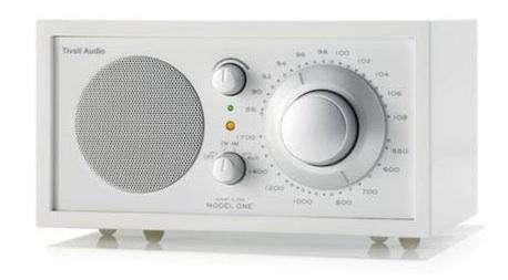 Holiday Gift New Frost White Tivoli Model One Radio portrait 3