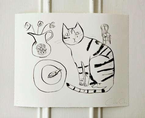 wayne pate cat print 1