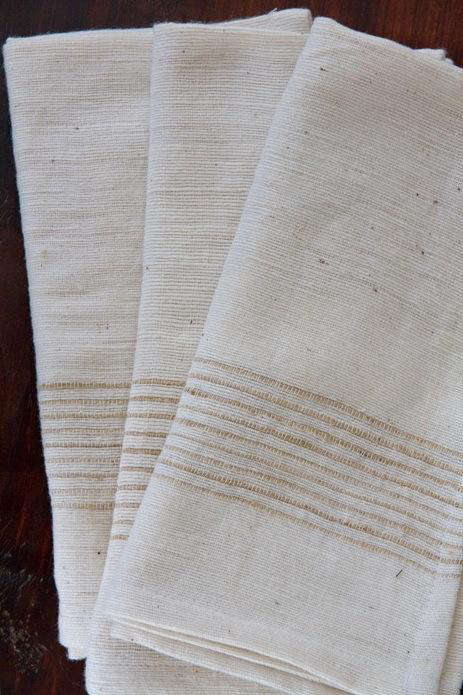 Fabrics and Linens Cotton Stripe Napkin portrait 2