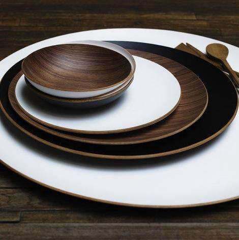 Tabletop Round Wood Trays from Canvas portrait 2