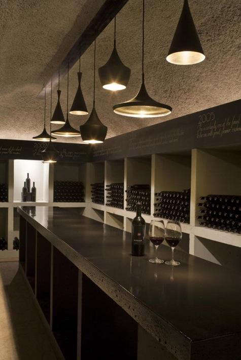 Merus winery tom dixon lights