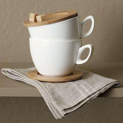 pottery barn cups saucer