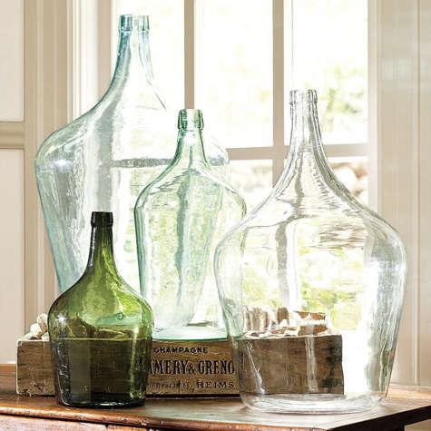 vintage bottles pottery barn