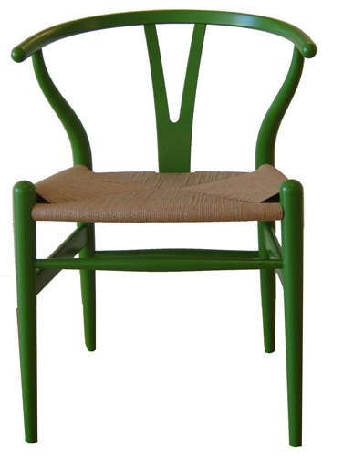 Furniture Green Wishbone Chair portrait 3