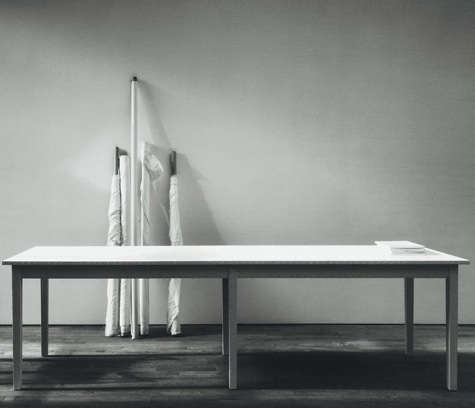 white canvas large table
