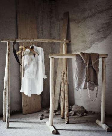 Storage Rustic Clothing Rack portrait 3