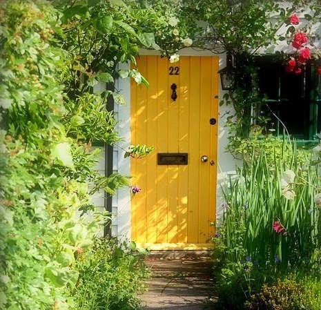 yellow garden door flickr flowers