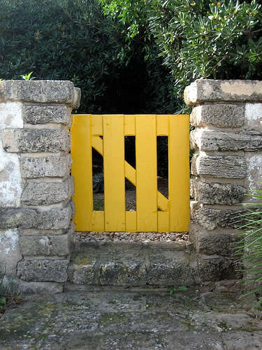 yellow gate flickr