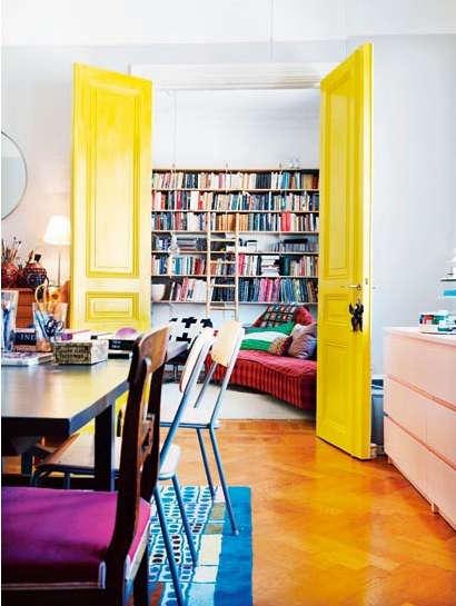 yellow interior door elle norway