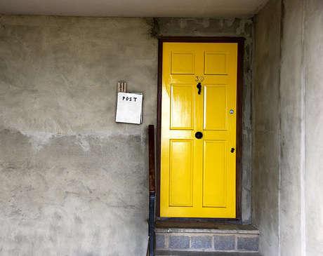 yellow shiny door flickr
