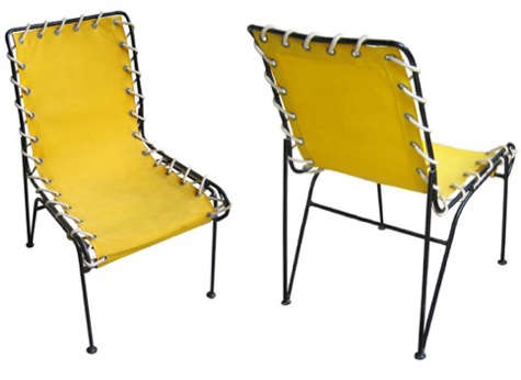 yellow vintage patio chairs