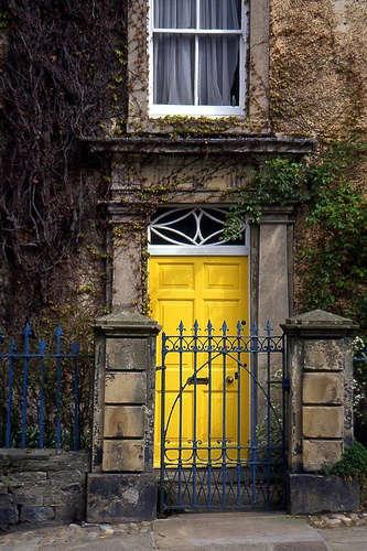yorkshire yellow door