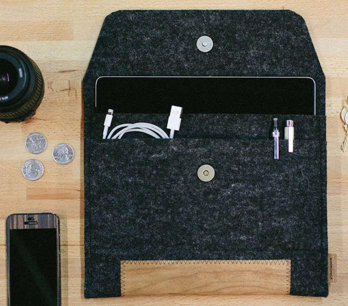 ipad sleeve wool woodchuck remodelista