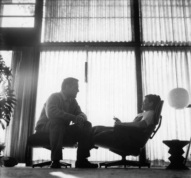 Charles and Ray Eames at home; image courtesy of Pencil.