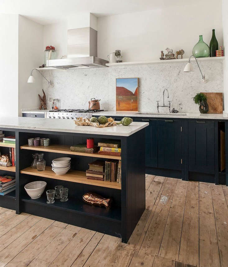 Skye Gyngell Home Kitchen British Standard Units London Remodelista Marble Countertop Marble Countertops White Marble Countertops