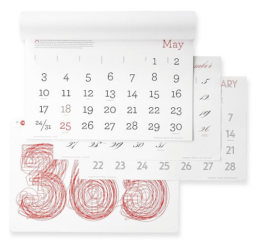 Object Lessons Calendars with a Design Pedigree portrait 3
