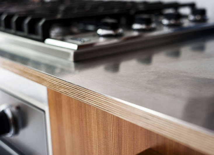 Brooklyn Townhouse Remodel Stainless Kitchen Counter Detail Fernlund and Logan Matthew Williams