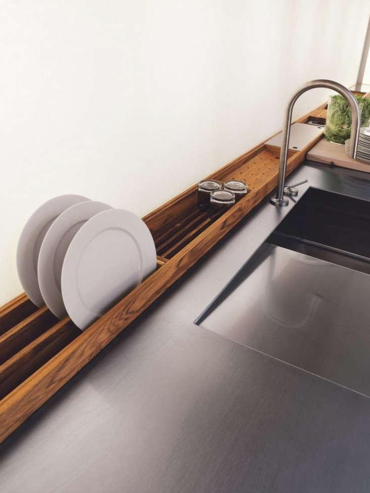 A custom dish drainer via Italian company Riva .