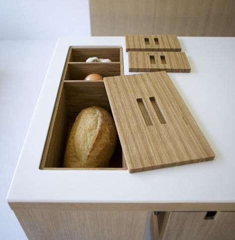 Inset bread bin from Viola Park, part of Henrybuilt.