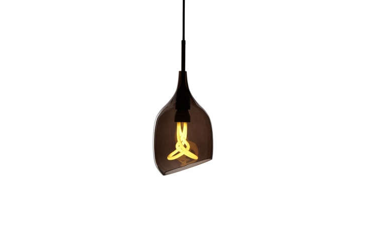 10 Easy Pieces Colorful Glass Pendant Lights The Decode Vessel Pendant in Smoke Gray is \$3\25 at Horne.