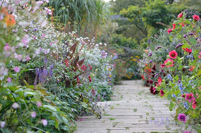 cottage garden path York paving gardenista
