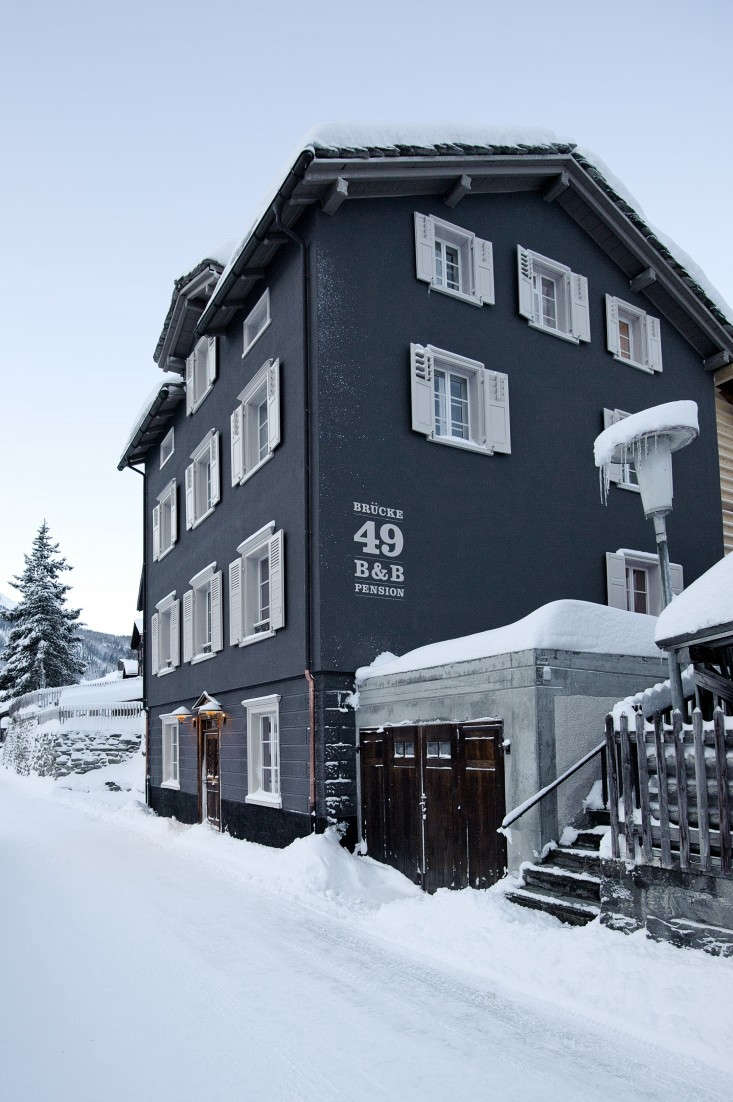 12 Favorites SnowCovered Cabins from the Remodelista Archives The modern rustic guesthouse in Vals, Switzerland, Brücke 49. See more atA Swiss Chalet Reborn (with Rooms to Rent).