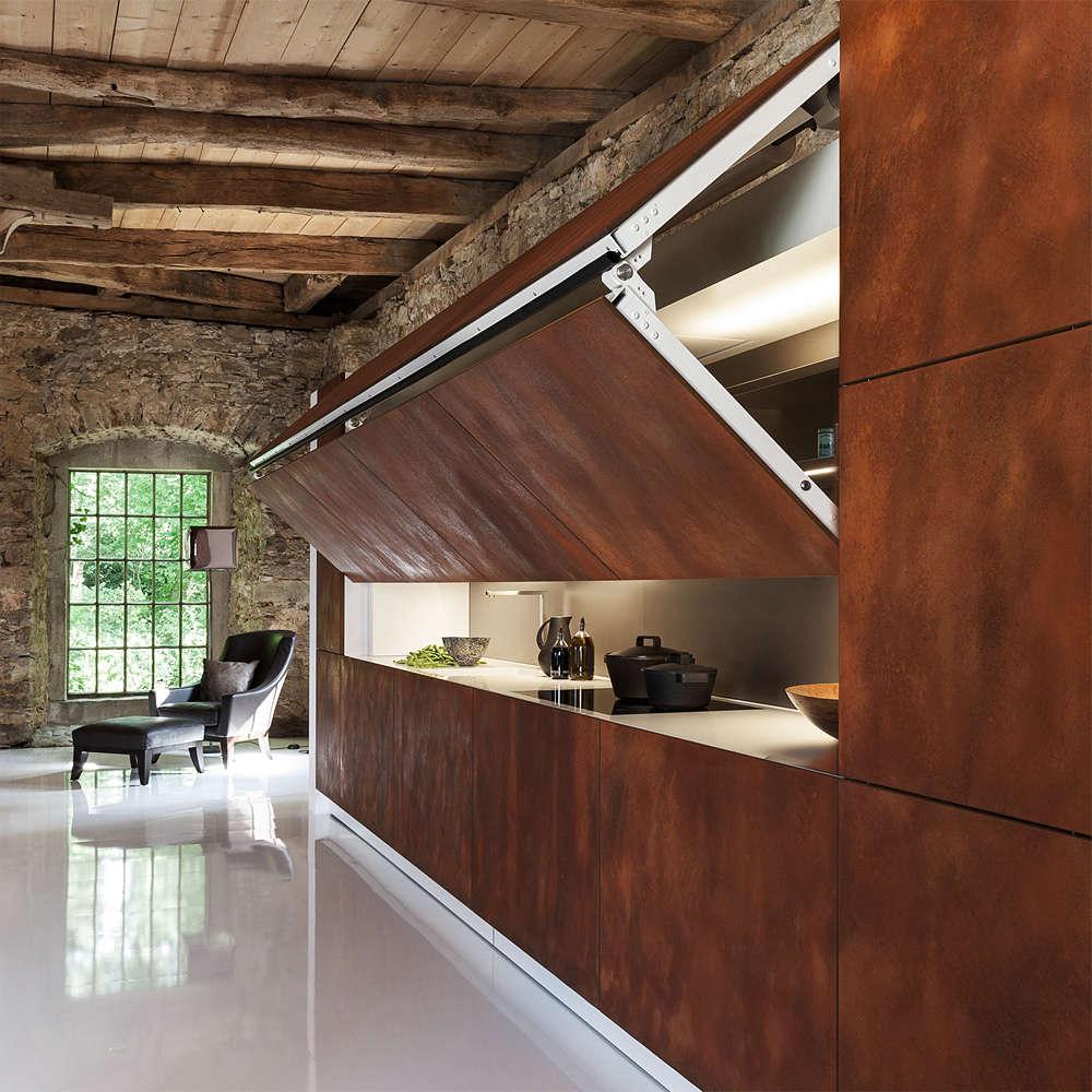 the hidden kitchen by german company warendorfhas an electronic panel that li 15