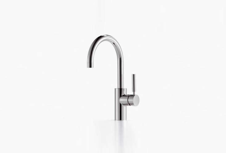The Tara Classic Single Lever faucet from Dornbracht is the hands-down favorite of the architects we polled in our post  Easy Pieces: Architects' Go-To Modern Kitchen Faucets. The Tara starts at $998.34 in polished chrome at Quality Bath.