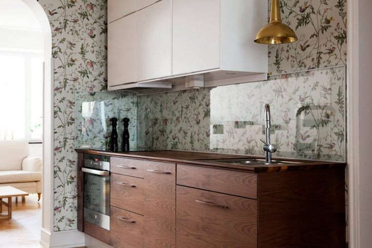 protected behind a glass panel,hummingbirds wallpaper by cole & son in a  10