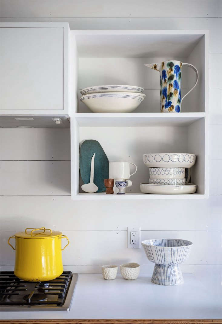 paula&#8\2\17;s open shelves provide a place to display her wares. 19