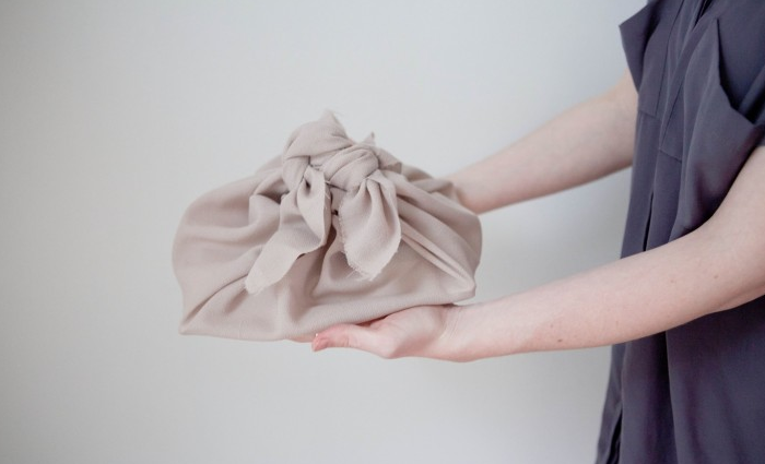 no wrapping paper? no matter. we love the present in a present of furoshiki wra 9