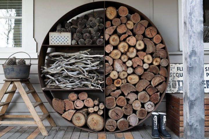 firewood storage wood stacker gardenista 1