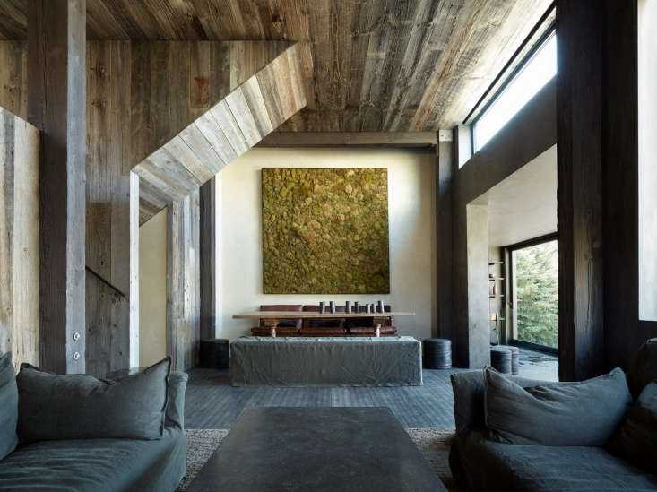 a series of grays intersect in the living room. the moss frame is from jf chen  12
