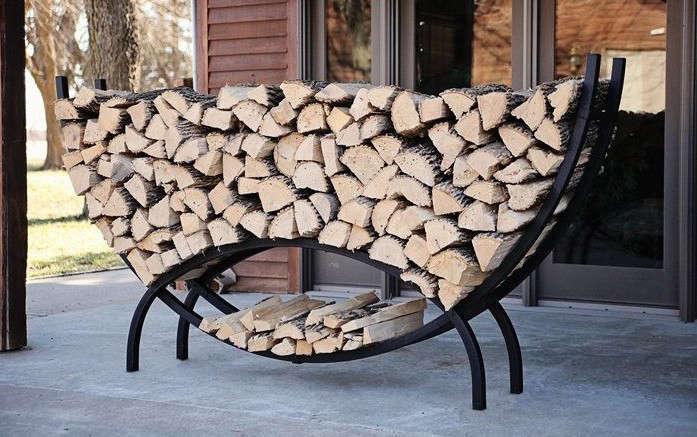 round firewood log stacker gardenista 1