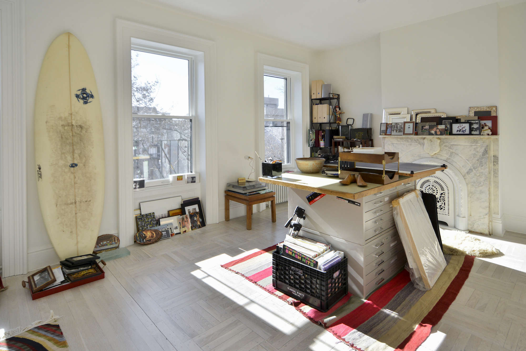 architects gregory merkel and catalina rojas's top floor workroom in their remo 24