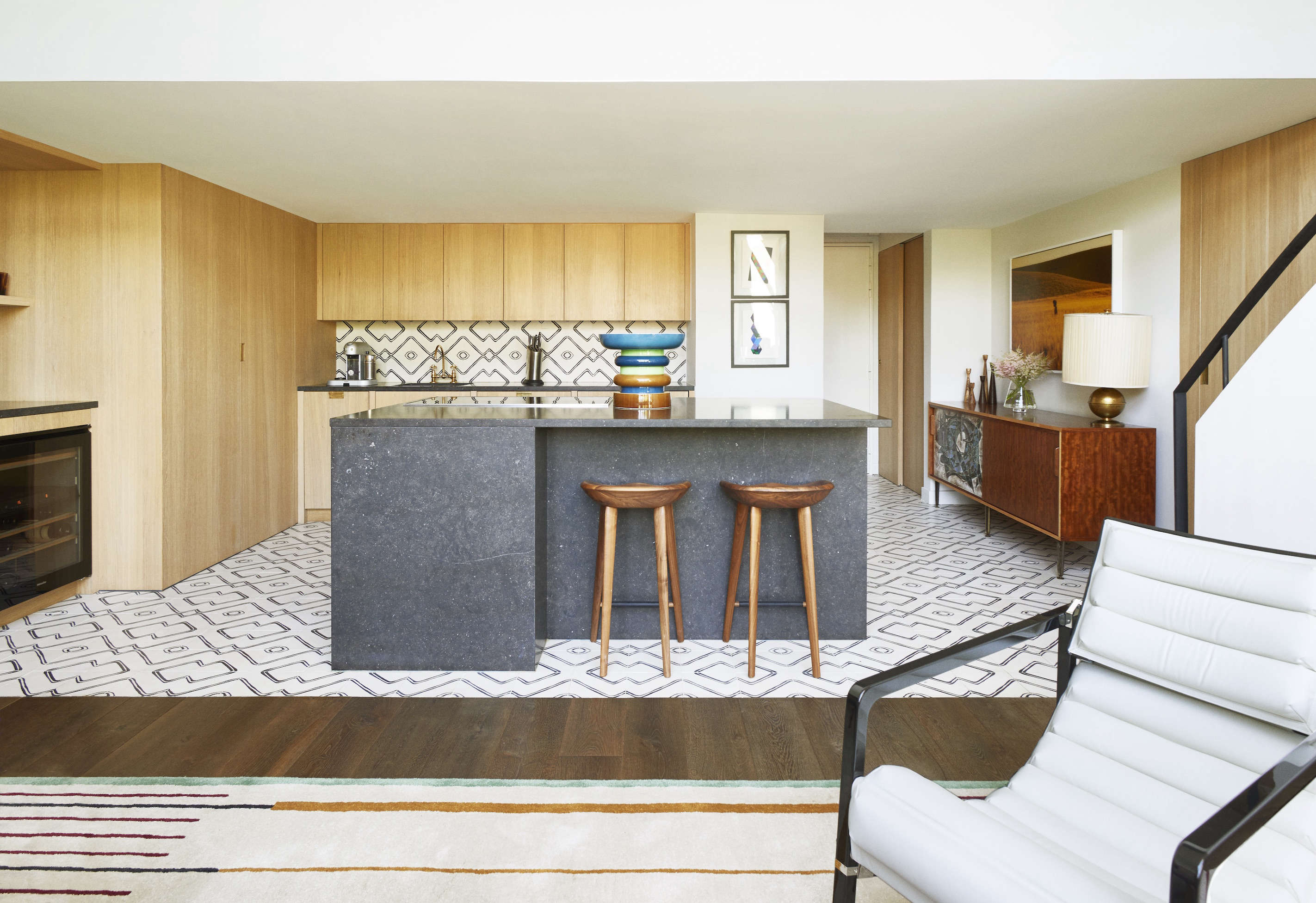 a compact, luxe paris kitchen designed by commune of la for the owners of floor 10