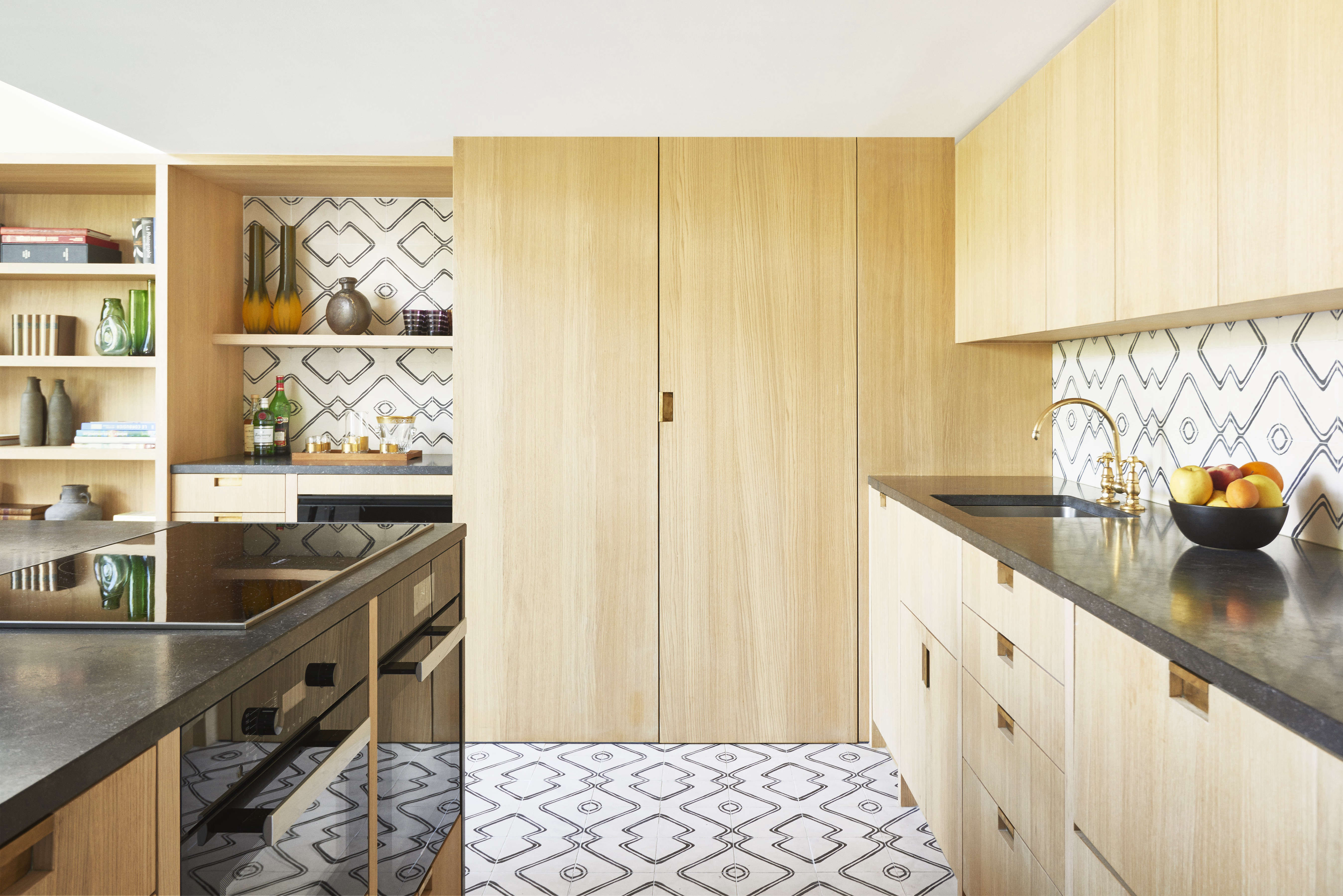 a compact, luxe kitchen in a paris pied a terre by commune of la. moroccan ceme 12