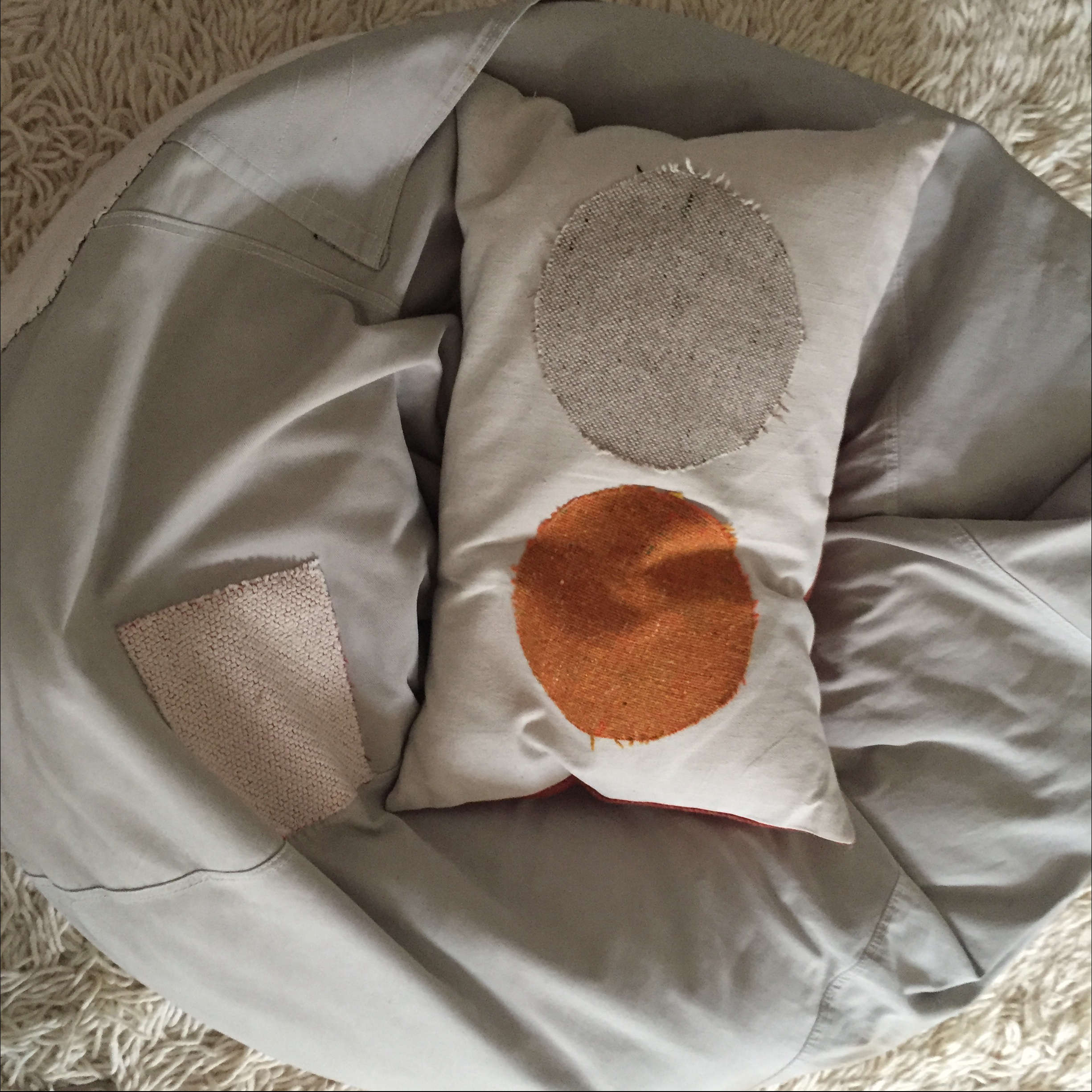 Corinne-Gilbert-design-patched-pillow-and-beanbag-chair | Remodelista