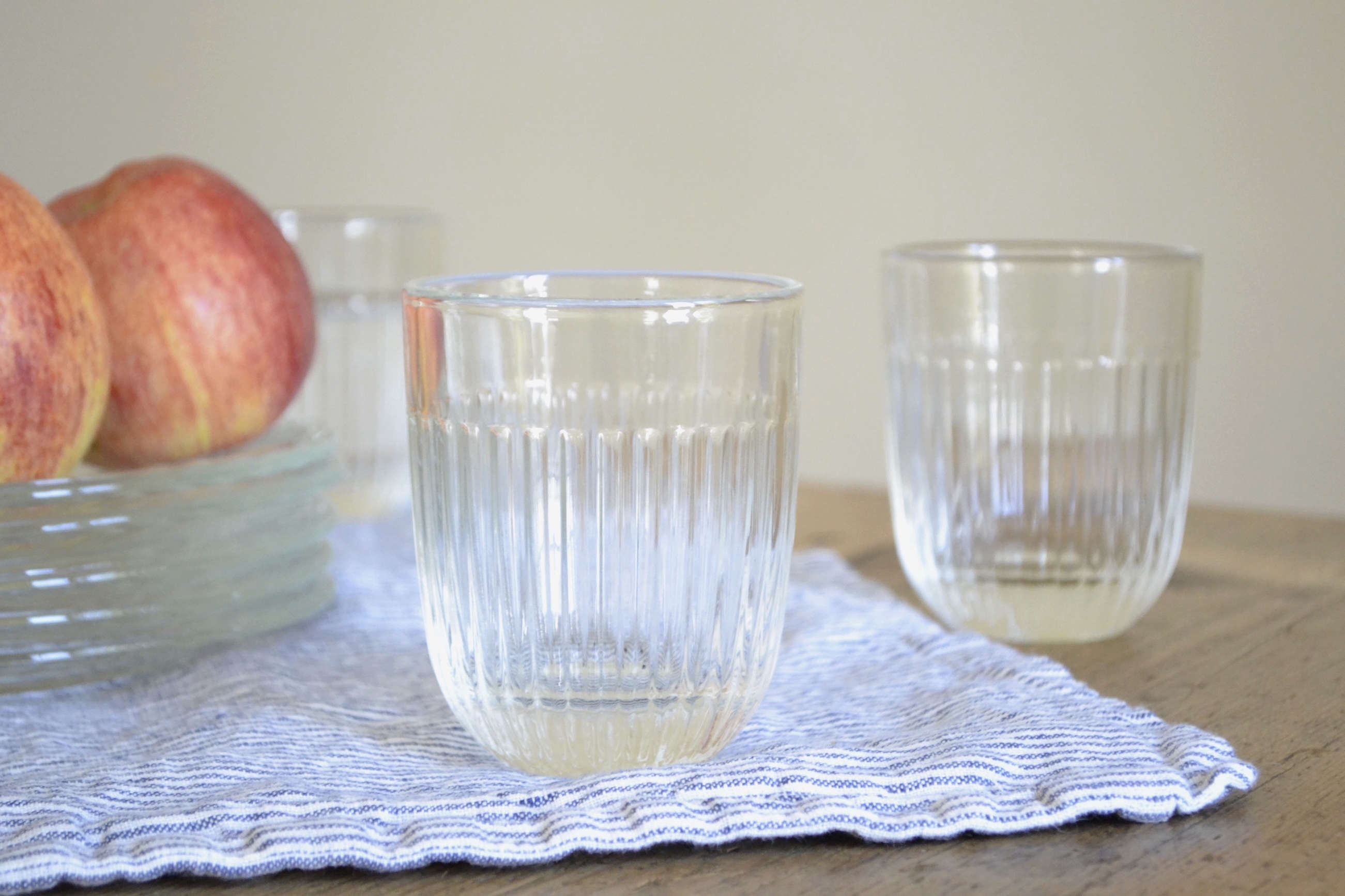 le roychere french ribbed glasses from le reperes des belettes | remodelista 14