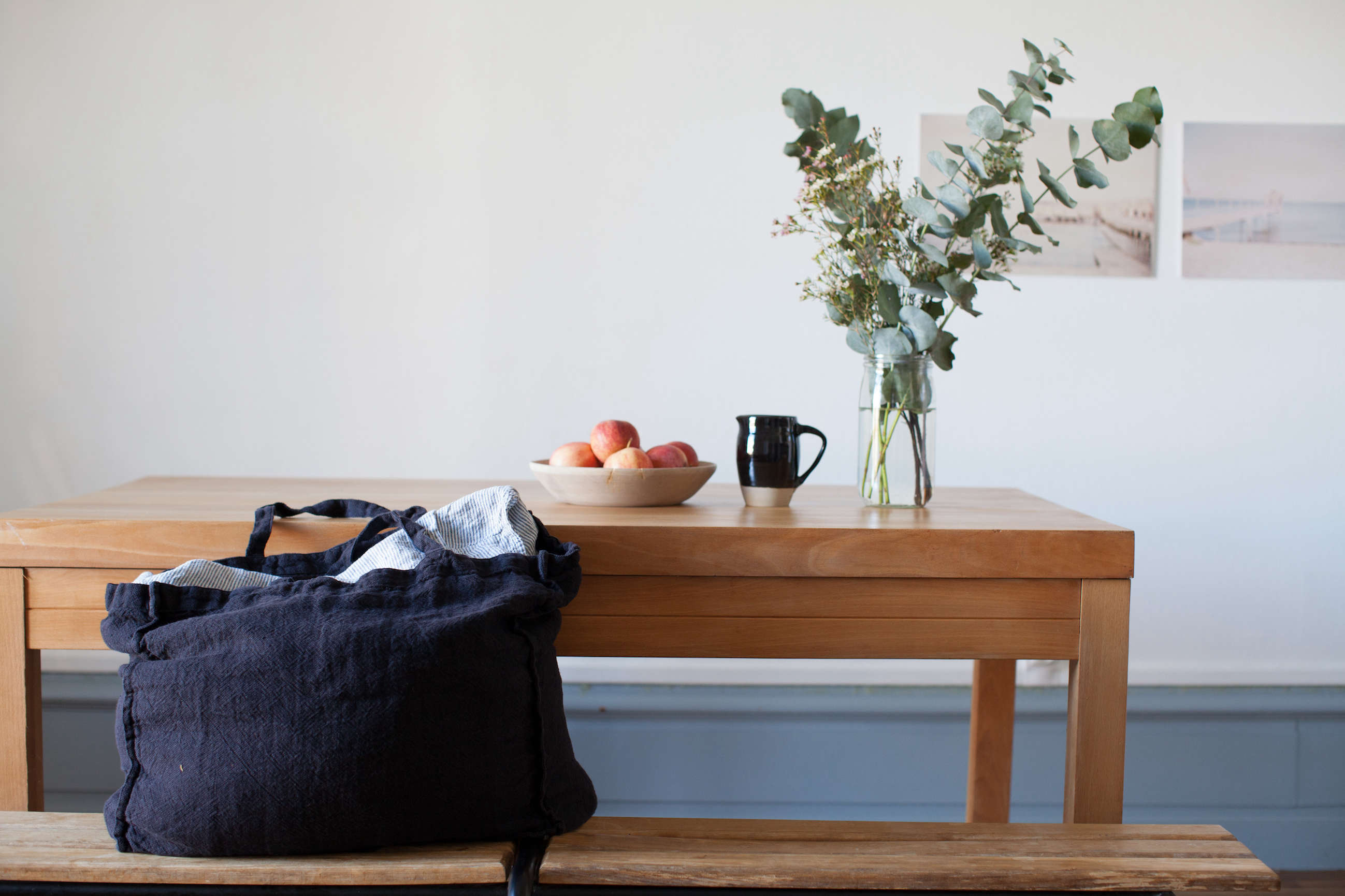 washed linen tote bag from le reperes des belettes | remodelista 12