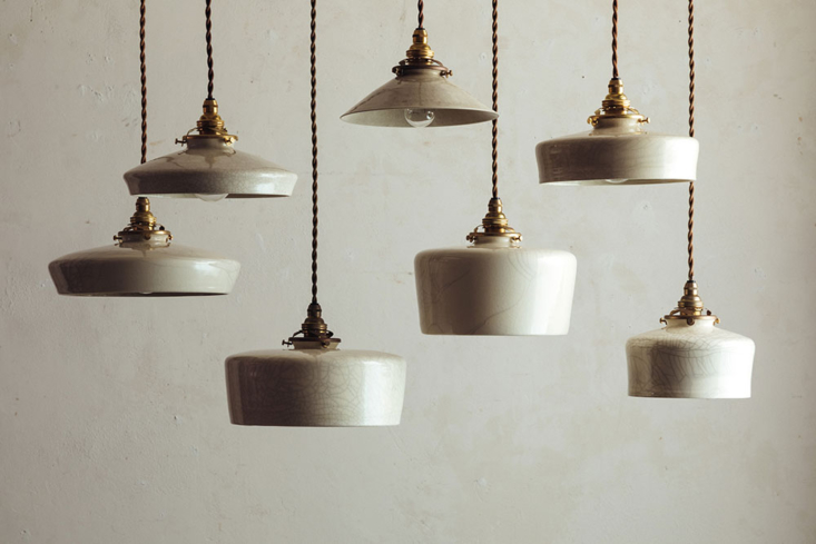 Ceramic pendant lamps designed in collaboration with Yusuke Tanahashi (contact Flame for more information).