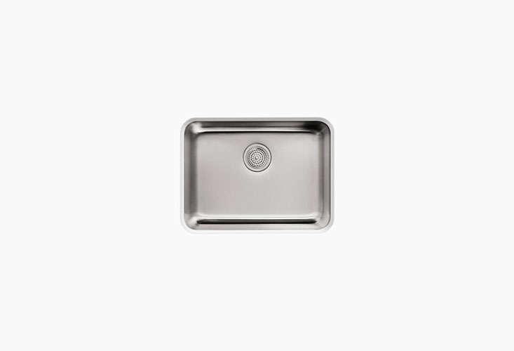 kohler'sundertone medium squared under mount single bowl kitchen sinkis \ 19