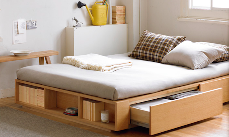 muji double light ash bed remodelista 13