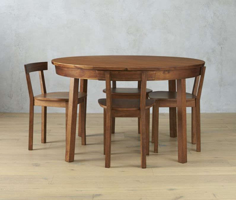 HighLow Alvar AaltoStyle Dining Table and Chairs Claremont Table chairs remodelista cb2