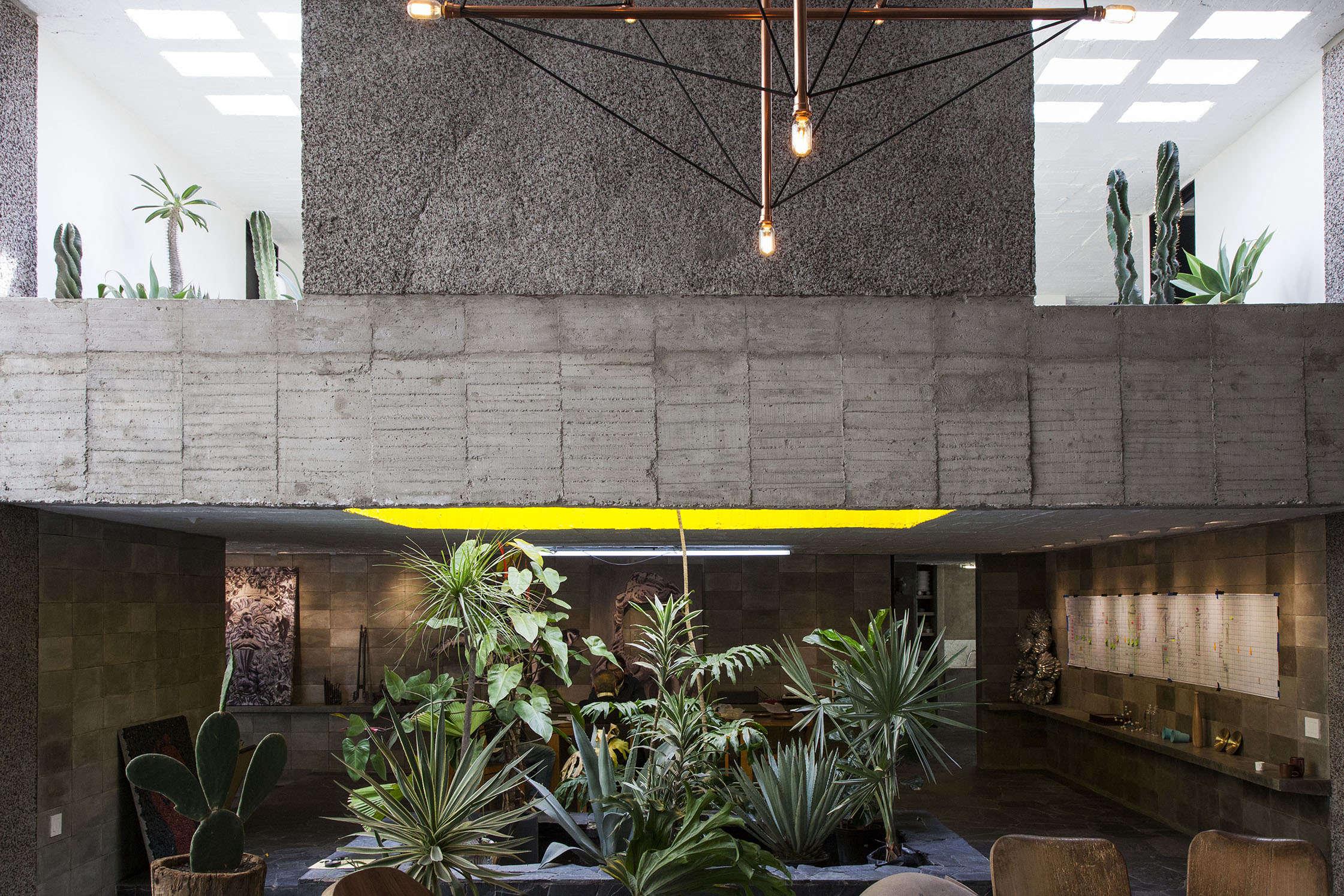Pedro Reyes and Carla Fernandez's Brutalist house in Mexico City via FvF | Remodelista