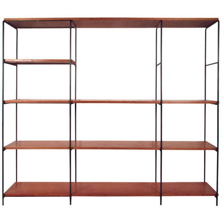 A Muriel Coleman Iron and Wood Wall Shelf,which can be used as a room divider, was previously available from Just in Modern via loading=