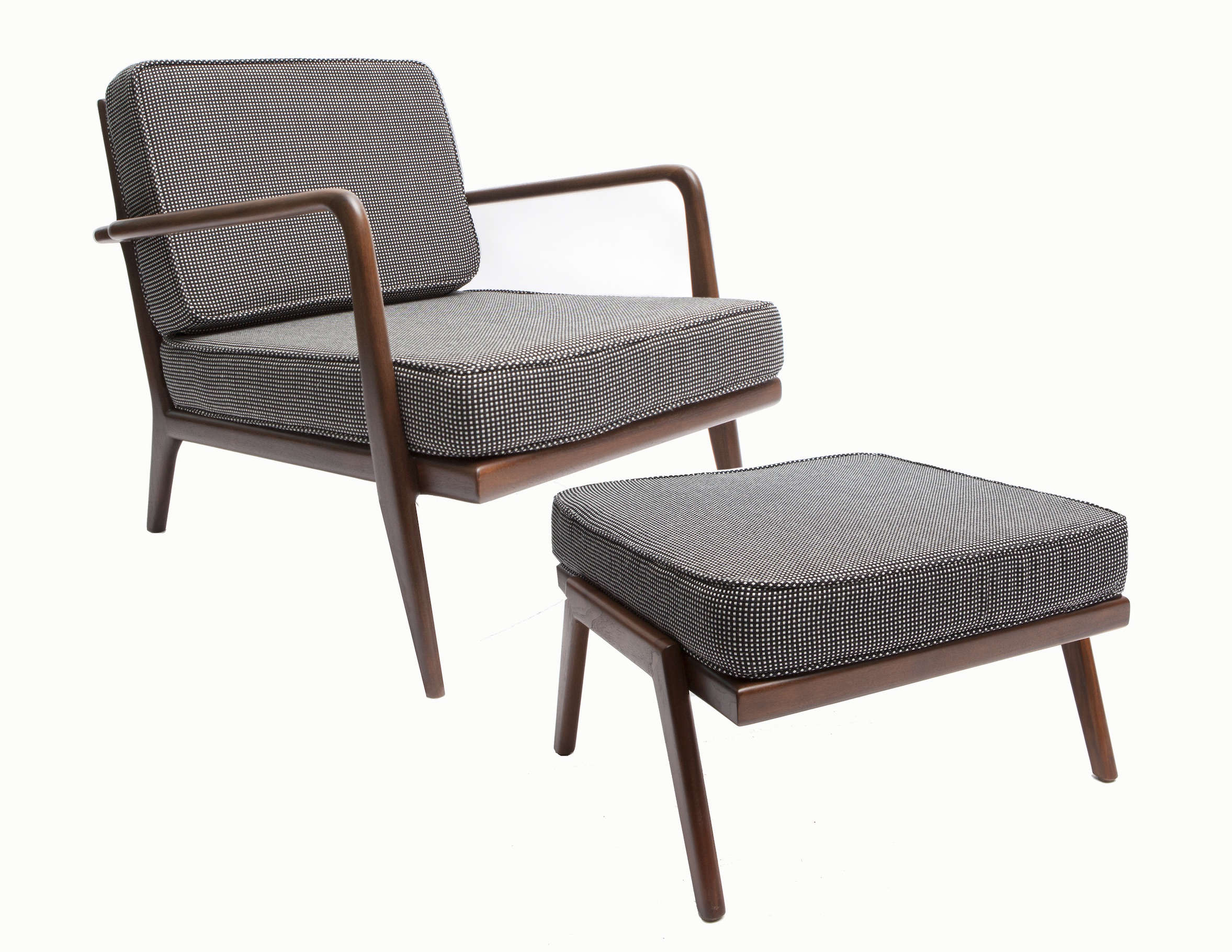 Second Coming 5 FamilyOwned Midcentury Design Companies Revived Smilow Furniture armchair and ottoman, a revived midcentury design | Remodelista