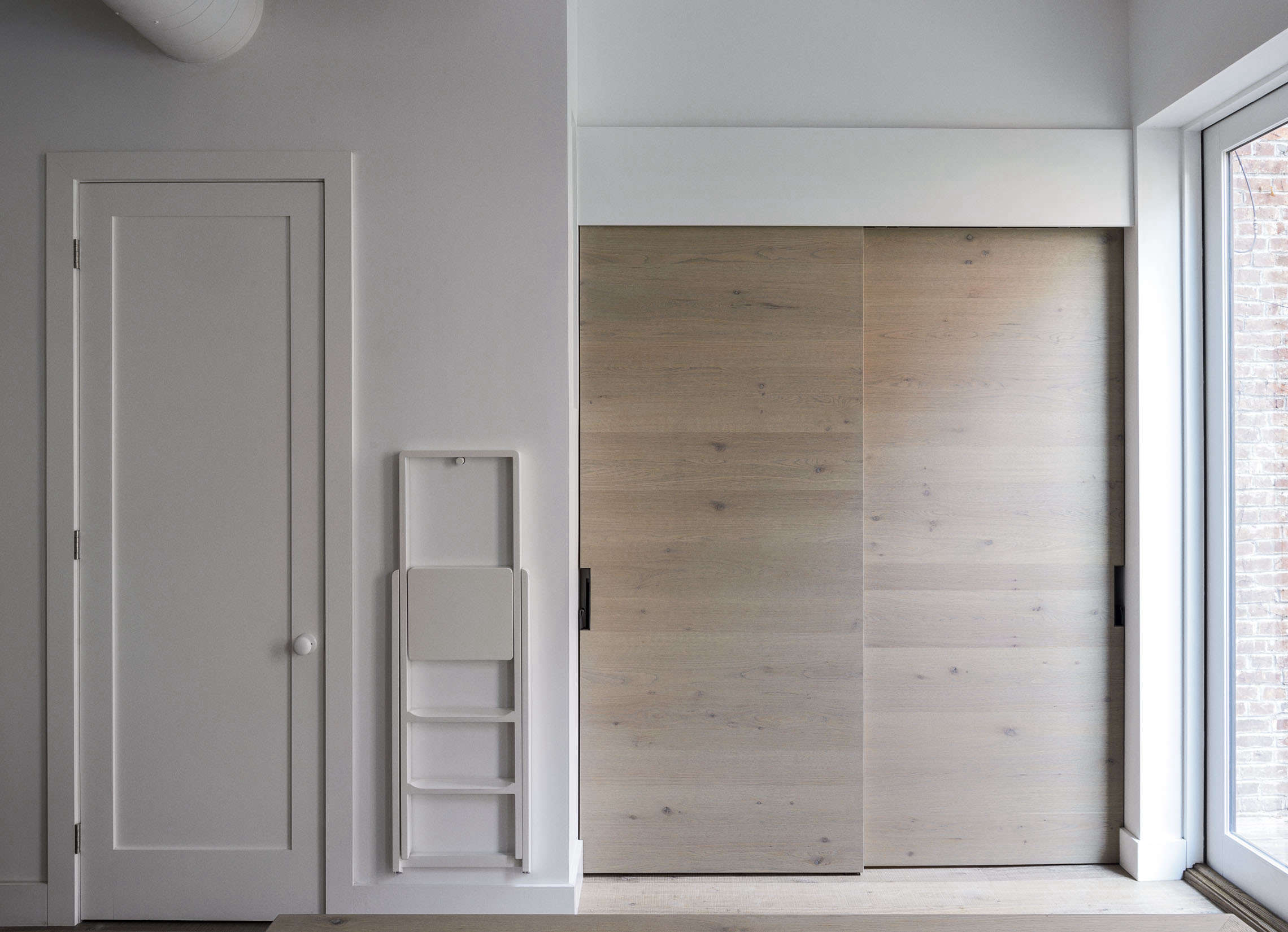 concealed modern pantry in a brooklyn kitchen remodel by workstead, matthew wil 14